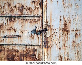 rostfritt stål, dörr