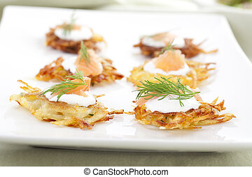 Rosti Appetizer Platter - Bite sized potato rosti appetizer ...