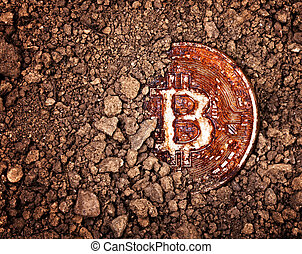 rostig, begravt, bitcoin
