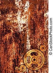 rostig metall, bakgrund