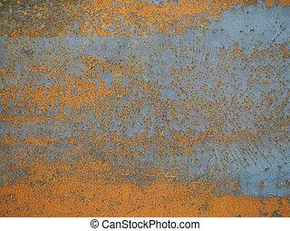rostig metall, strukturerad