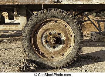 rostig, traktor