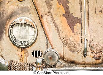 rostning, pannlampa, huv, fordon