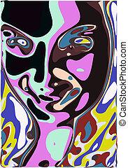 rosto, abstratos