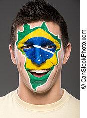 rosto, art., flags.