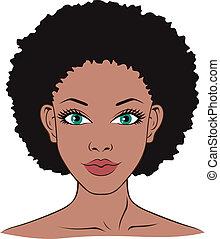 rosto mulher, para, spa, saúde, beleza