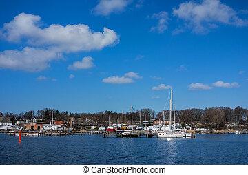 rostock, (germany)., port