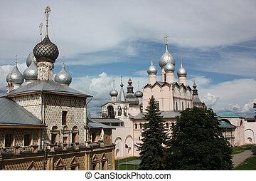 Rostov Kremlin. Churchs - Russia, Rostov Veliky. Rostov ...