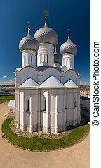 Rostov Kremlin. Domes of the Assumption Cathedral.