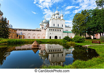 rostov, kremlin, dourado, anel, rússia