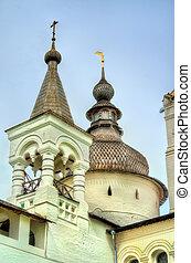 rostov, kremlin, rússia, anel, dourado
