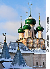 Rostov - Kremlin, Wintertime - The Kremlin of Rostov in ...