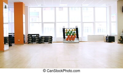 Interior of modern fitness club. - Rostov on Don, Russian...