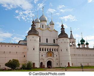 rostov, suposição, kremlin, portão, catedral