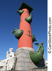Rostral column Saint Petersburg Russia