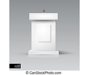 rostrum/podium, com, microfone