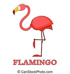 Rosy Flamingo Linear Icon