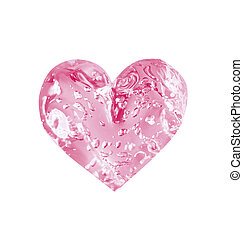 rosy limpid heart for Saint valentine's day