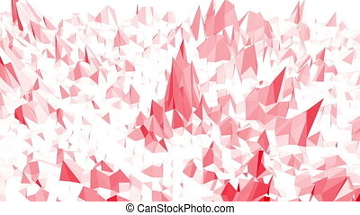 Rosy or pink low poly surface as geometric mesh. Polygonal...