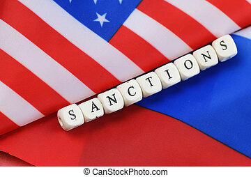 rosyjska bandera, usa, sankcje
