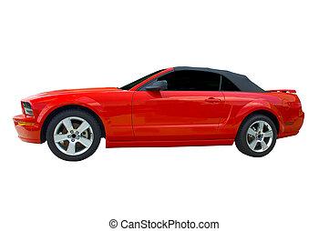 rot heiß, sportwagen