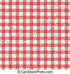 rot weiß, kattun, tischtuch, beschaffenheit, seamless