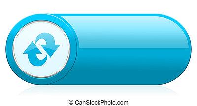 rotação, ícone, refrescar, sinal