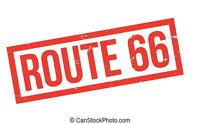 rota 66, selo borracha
