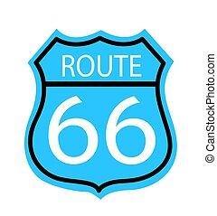 rota,  66, sinal