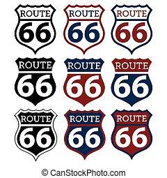 rota 66, sinal rodovia