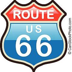rota 66, vetorial, sinal