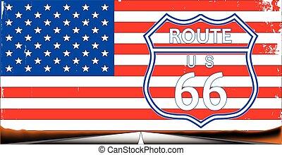 rota, bandeira, 66