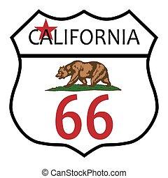 rota, califórnia, 66
