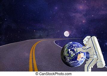 rota, missão espacial, astronaut.elements, de, este, imagem, fornecido, por, nasa