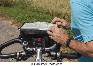 rota, planificação, biking
