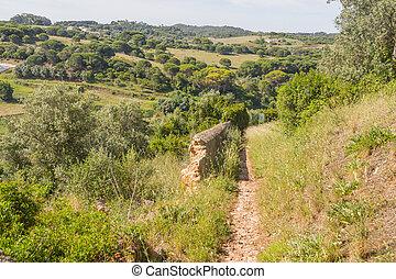 Rota Vicentina Trail in Santiago do Cacem, Alentejo, ...