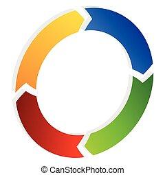 rotación, segmentar, arrow., círculo, icon., flecha, ...