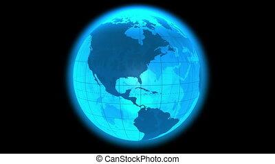rotante, globo terra, cappio
