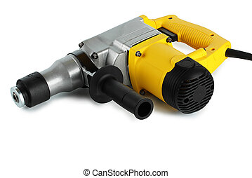 rotary hammer on a white background in the Studio