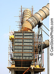 Rotary kiln waste heat power generation equipment in a cement plant, north china
