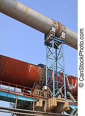 rotary kiln waste heat recovery equipment in a cement factory