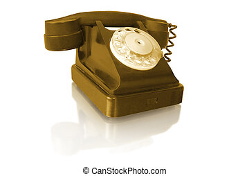 rotary old vintage telephone