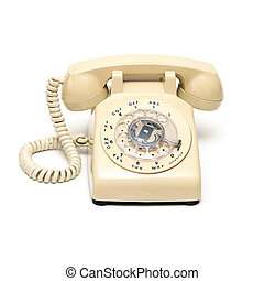 Rotary Phone - An isolated shot of a traditional rotary...