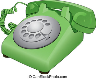 Rotary Phone - This is a vector illustration of an old retro...