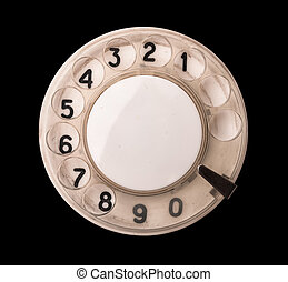 Rotary phone dial - Close up of old rotary phone dial...