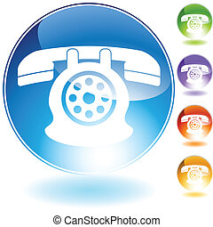 rotary phone isolated on white background.