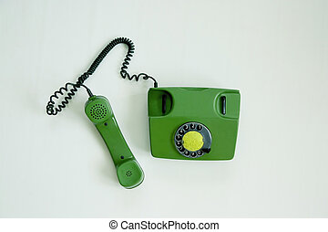 Rotary phone with handset