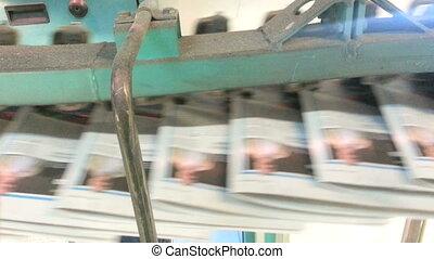 Rotary transporter printing line