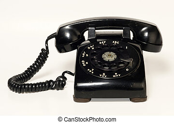 Rotary telephone - Image of an old beatup rotary telephone....