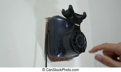 Rotary Wall Phone - vintage telephone, old style...